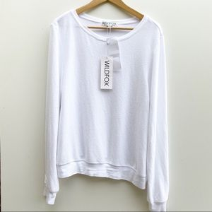 Wildfox | Clean Plain White Pullover Cozy Sweater